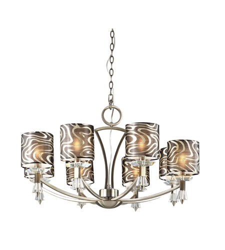 Trans Globe Lighting Young And Hip 8 Light Chandelier in Antique Brass 70118-AB photo