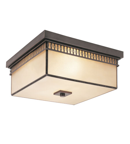 Trans Globe Lighting Contemporary 2 Light Flush Mount in Rubbed Oil Bronze 70177-ROB photo
