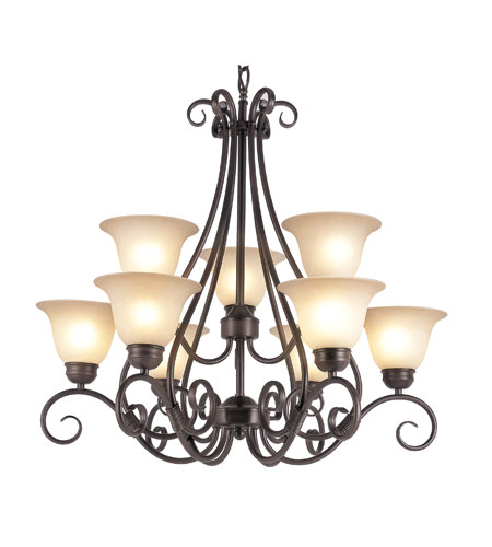 Trans Globe Lighting 70199-ROB Victorian 9 Light 30 inch Rubbed Oil Bronze Chandelier Ceiling Light photo