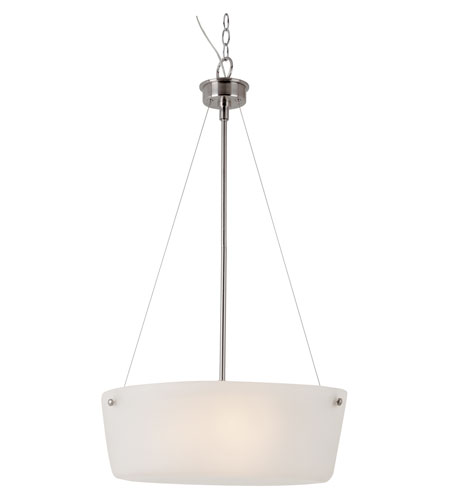 Trans Globe Lighting 70336-BN Urban Swag 3 Light 20 inch Brushed Nickel Pendant Ceiling Light photo