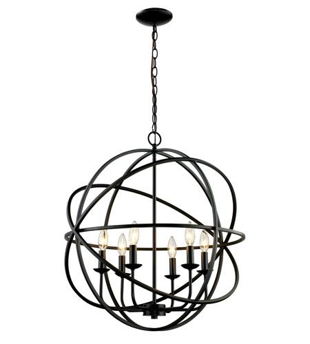 Trans Globe Lighting 70656 Rob Signature 6 Light 24 Inch Rubbed Oil Bronze Pendant Ceiling