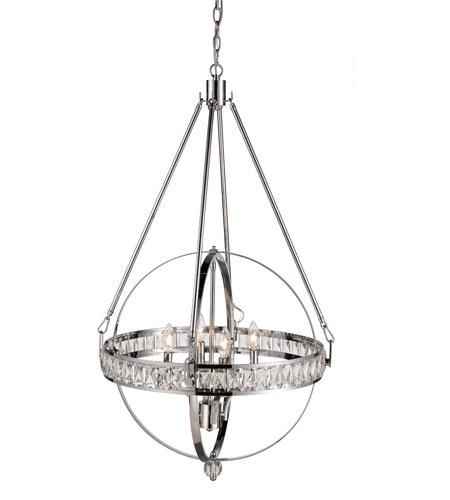 trans globe lighting 70754 pc elan 4 light 25 inch polished chrome