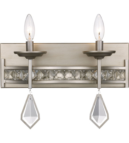 Antique Silver Leaf Eli Wall Sconces