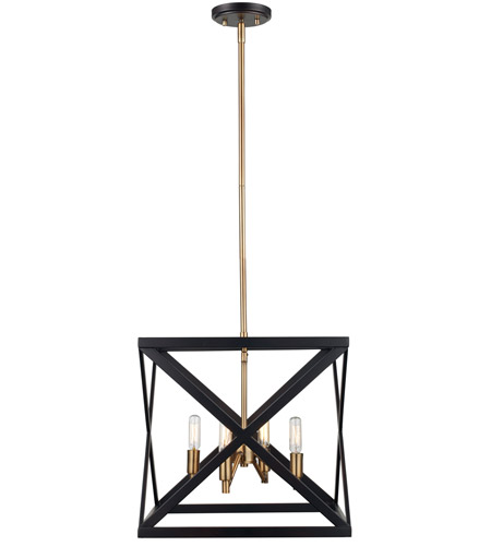 Trans Globe Lighting 71055 Rob Ab Ackerman 4 Light 13 Inch Rubbed Oil Bronze And Antique Brass Pendant Ceiling Light