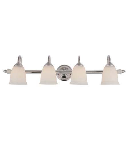Trans Globe Lighting Signature 4 Light Bath Bar in Polished Chrome 7134-PC photo