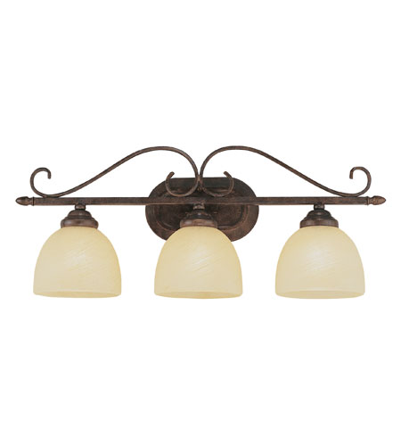 Trans Globe Lighting New Century 3 Light Bath Bar in Antique Brown Rust 7213-ABR photo