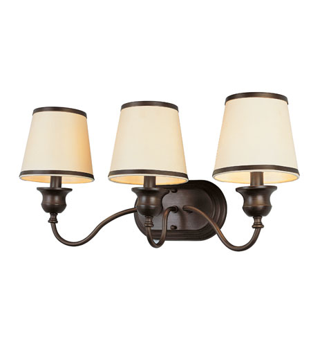 Trans Globe Lighting Modern Meets Traditional 3 Light Sconce in Rubbed Oil Bronze 7533-ROB photo