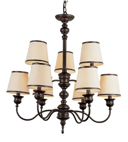 Trans Globe Lighting Modern Meets Traditional 9 Light Chandelier in Rubbed Oil Bronze 7539-ROB photo