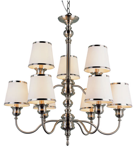 Trans Globe Lighting Modern Meets Traditional 9 Light Chandelier in Rubbed Oil Bronze 7539-SN photo