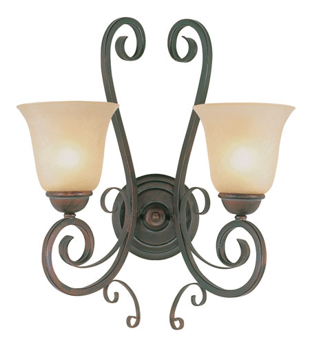 Trans Globe Lighting Sights Of Seville 2 Light Wall Sconce in Antique Brown Rust 7791-ABR photo