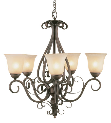 Trans Globe Lighting Sights Of Seville 5 Light Chandelier in Antique Brown Rust 7795-ABR photo