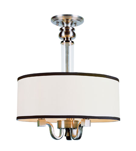 Trans Globe Lighting Modern Meets Traditional 3 Light Pendant in Brushed Nickel 7976-BN photo
