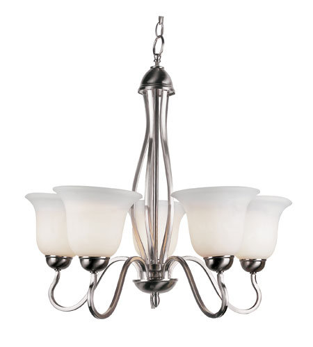 Trans Globe Lighting 8165 Bn Farmhouse 5 Light 26 Inch Brushed Nickel Chandelier Ceiling