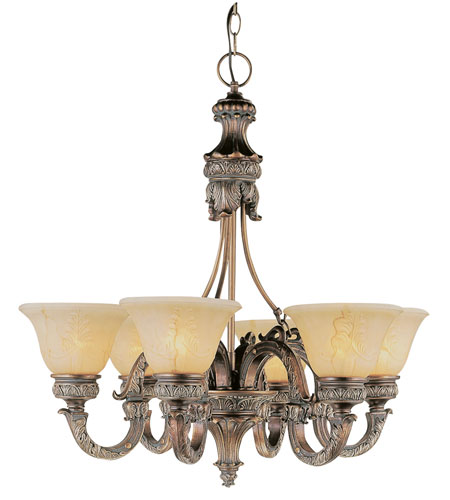 Trans Globe Lighting In The Mediterranean 6 Light Chandelier in Imperial Copper 8526-IC photo