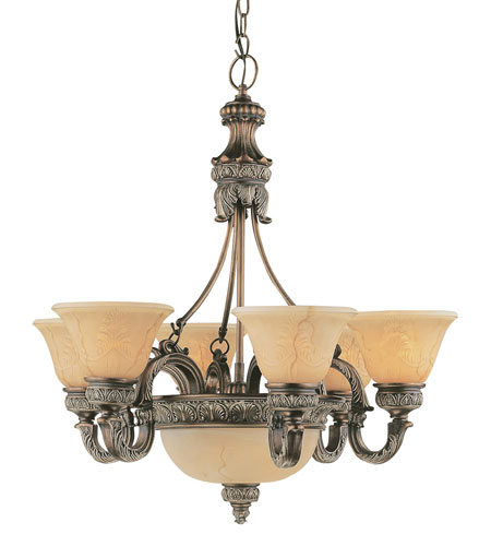 Trans Globe Lighting In The Mediterranean 8 Light Chandelier in Imperial Copper 8527-IC photo