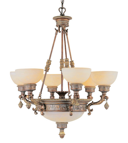 Trans Globe Lighting In The Mediterranean 9 Light Chandelier in Lincoln Copper 8534-LC photo