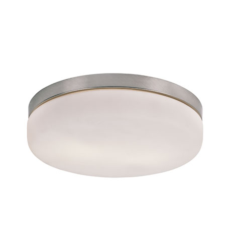 Trans Globe Signature 2 Light Flush Mount in Brushed Nickel 8873 photo
