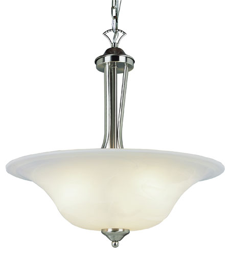 Trans Globe Lighting Contemporary 3 Light Pendant in Brushed Nickel 9284-BN photo
