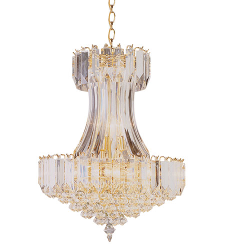 Trans Globe Lighting Back To Basics 8 Light Chandelier in Polished Brass 9684-PB photo