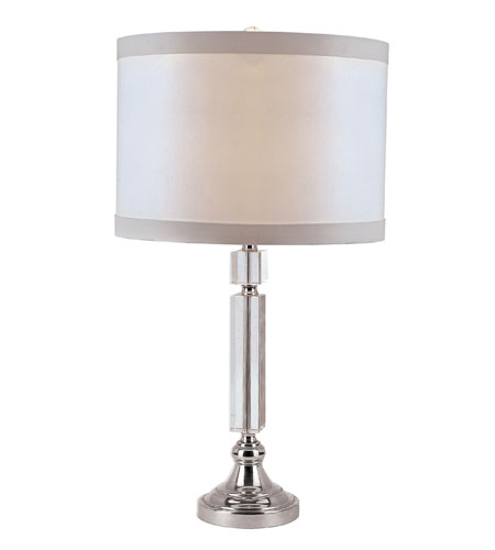 Trans Globe Lighting CTL-564 Crystal Lamps 26 inch 100 watt Polished Chrome Table Lamp Portable Light photo