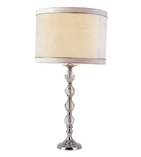 Trans Globe Lighting CTL-567 Crystal Lamps 29 inch 100 watt Polished Chrome Table Lamp Portable Light photo