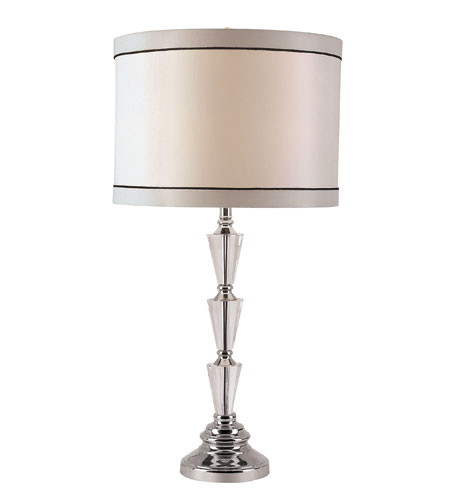 Trans Globe Lighting CTL-569 Crystal Lamps 28 inch 100 watt Polished Chrome Table Lamp Portable Light photo