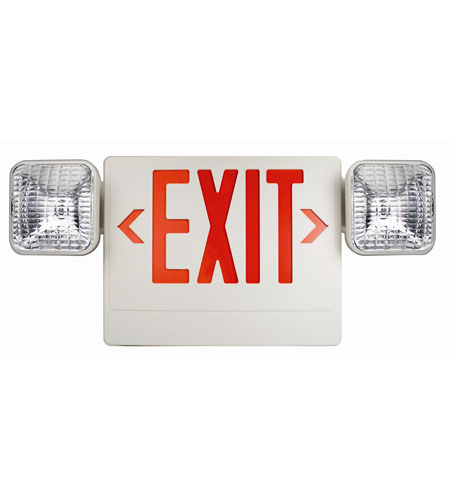 Trans Globe Lighting 3 Light Safety Light in White EXIT-722 photo
