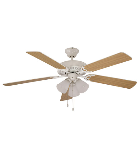 Trans Globe Lighting F-1005-WH Tempa Breeze 52 inch White with Maple / White Reversible Blades Ceiling Fan photo