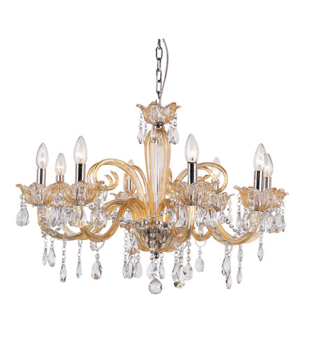 Trans Globe Lighting Versailles 8 Light Chandelier in Champagne HG-8-CHMP photo