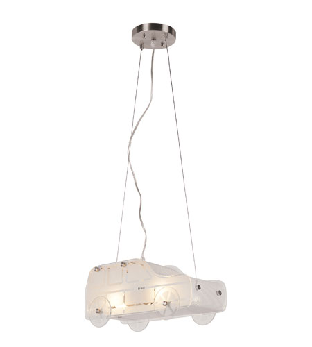 Trans Globe Lighting Kids Korner 2 Light Pendant in White Frost KDL-846 photo