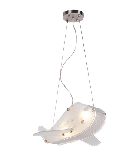 Trans Globe Lighting Kids Korner 2 Light Pendant in White Frost KDL-847 photo