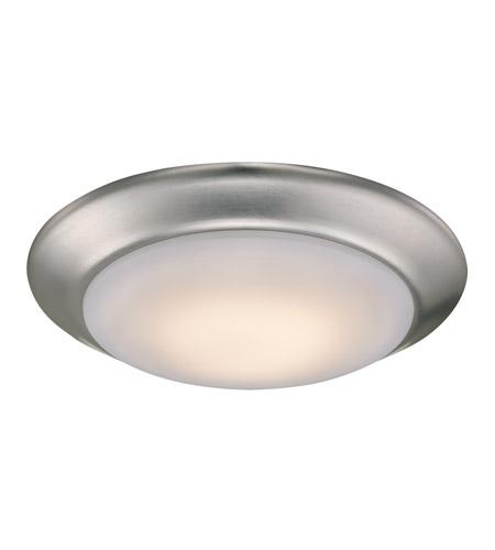 Led Ceiling Light Globe: Signature 8 Inch Brushed Nickel Flush Mount Ceiling Light