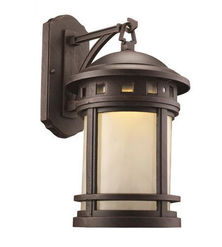Trans Globe Lighting LED 40371 RT Boardwalk LED 16 Inch Rust Outdoor Wall  Lantern