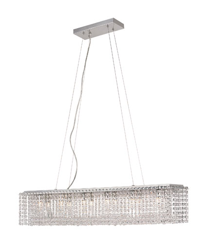 Trans Globe Lighting Crystal Flair 12 Light Island Pendant in Polished Chrome MDN-1003 photo