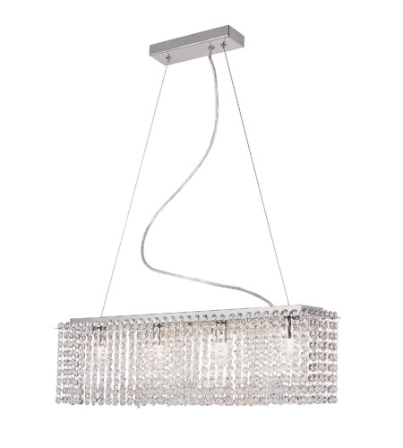 Trans Globe Lighting Crystal Flair 4 Light Island Pendant in Polished Chrome MDN-1004 photo