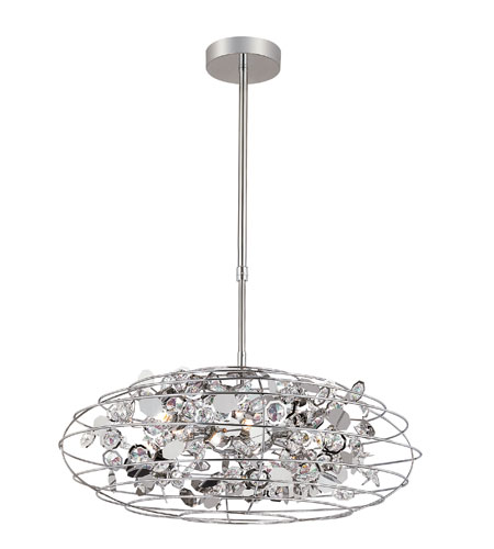 Trans Globe Lighting Contemporary 8 Light Pendant in Polished Chrome MDN-1011-1 photo