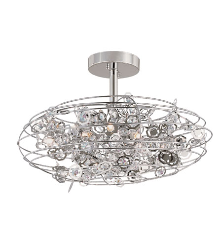Trans Globe Lighting Contemporary 8 Light Semi-Flush Mount in Polished Chrome MDN-1011 photo