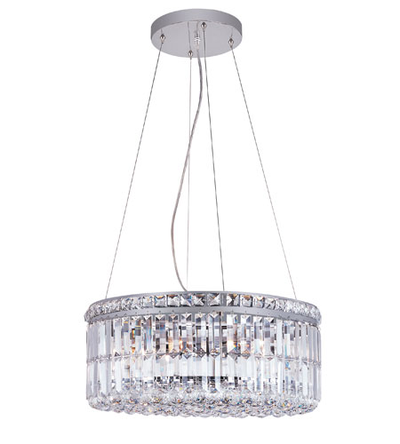 Trans Globe Lighting Contemporary Crystal 6 Light Pendant in Polished Chrome MDN-1050 photo