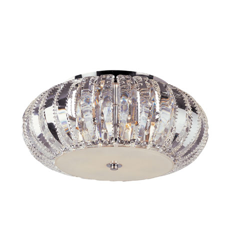 Trans Globe Lighting Contemporary Crystal 4 Light Flushmount in Polished Chrome MDN-1057 photo