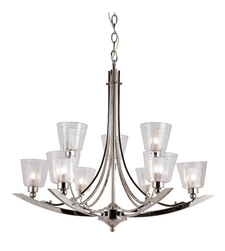 Trans Globe Lighting Energy Efficient Indoor 9 Light Chandelier in Polished Chrome MDN-1061 photo
