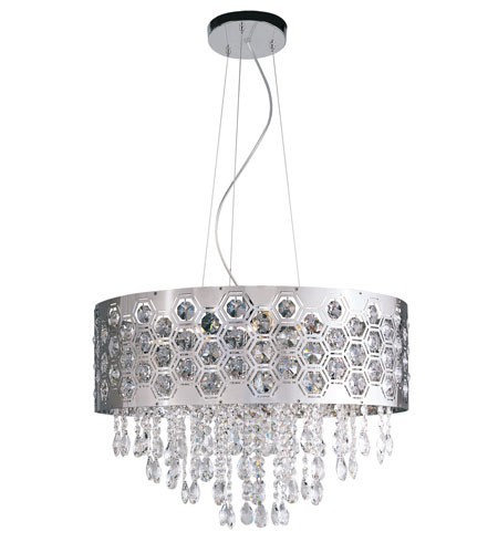 Trans Globe Lighting Contemporary Crystal 6 Light Pendant in Chrome MDN-1094 photo