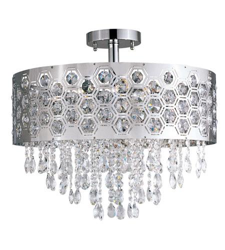 Trans Globe Lighting Contemporary Crystal 6 Light Semi-Flush Mount in Chrome MDN-1095 photo