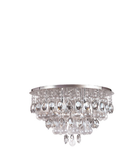 Trans Globe Lighting Contemporary Crystal 12 Light Flushmount in Polished Chrome MDN-1103 photo