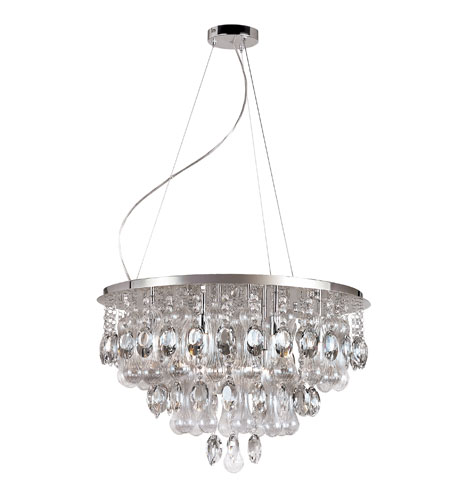 Trans Globe Lighting Contemporary Crystal 12 Light Pendant in Polished Chrome MDN-1105 photo