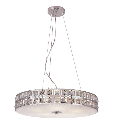 Trans Globe Lighting MDN-1110 Contemporary Crystal 5 Light 20 inch Polished Chrome Pendant Ceiling Light photo