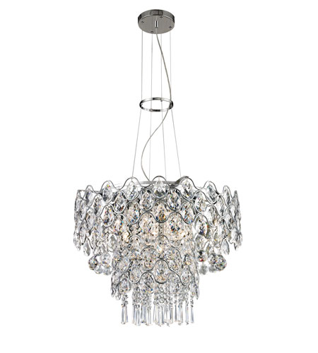 trans globe lighting chapeau 12 light pendant in polished chrome mdn