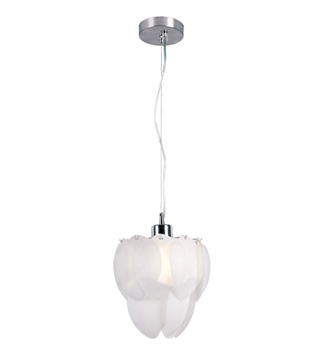 Trans Globe Lighting Modern 1 Light Pendant in Polished Chrome MDN-820 photo