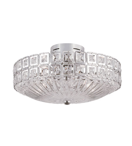 Trans Globe Lighting Modern Meets Traditional 20 Light Flush Mount in Polished Chrome MDN-908 photo