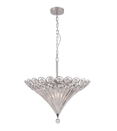 Trans Globe Lighting Modern Meets Traditional 10 Light Pendant in Polished Chrome MDN-915 photo