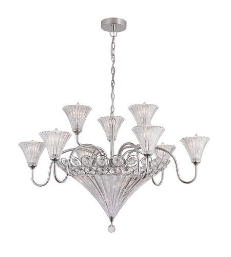 Trans Globe Lighting Modern Meets Traditional 12 Light Chandelier in Polished Chrome MDN-916 photo